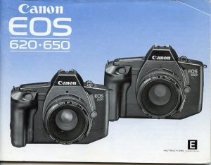 Used Canon EOS 650/620 instruction Manual